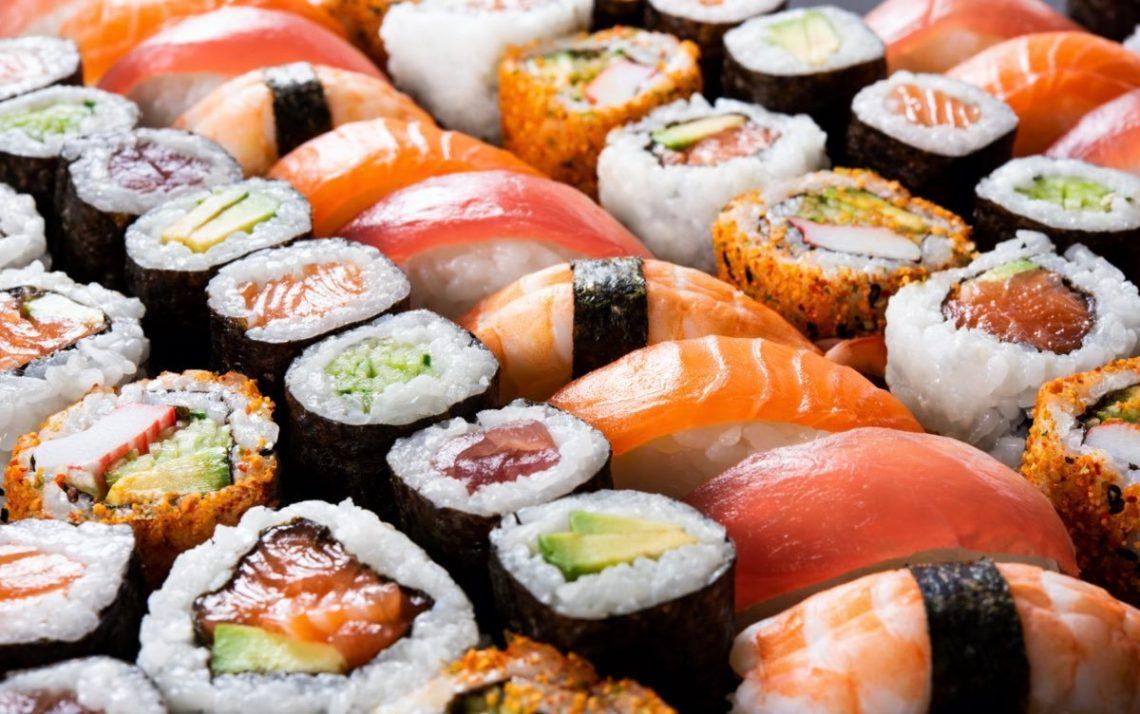 rollos y tipos de sushi