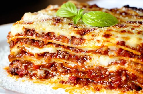 lasaña original italia